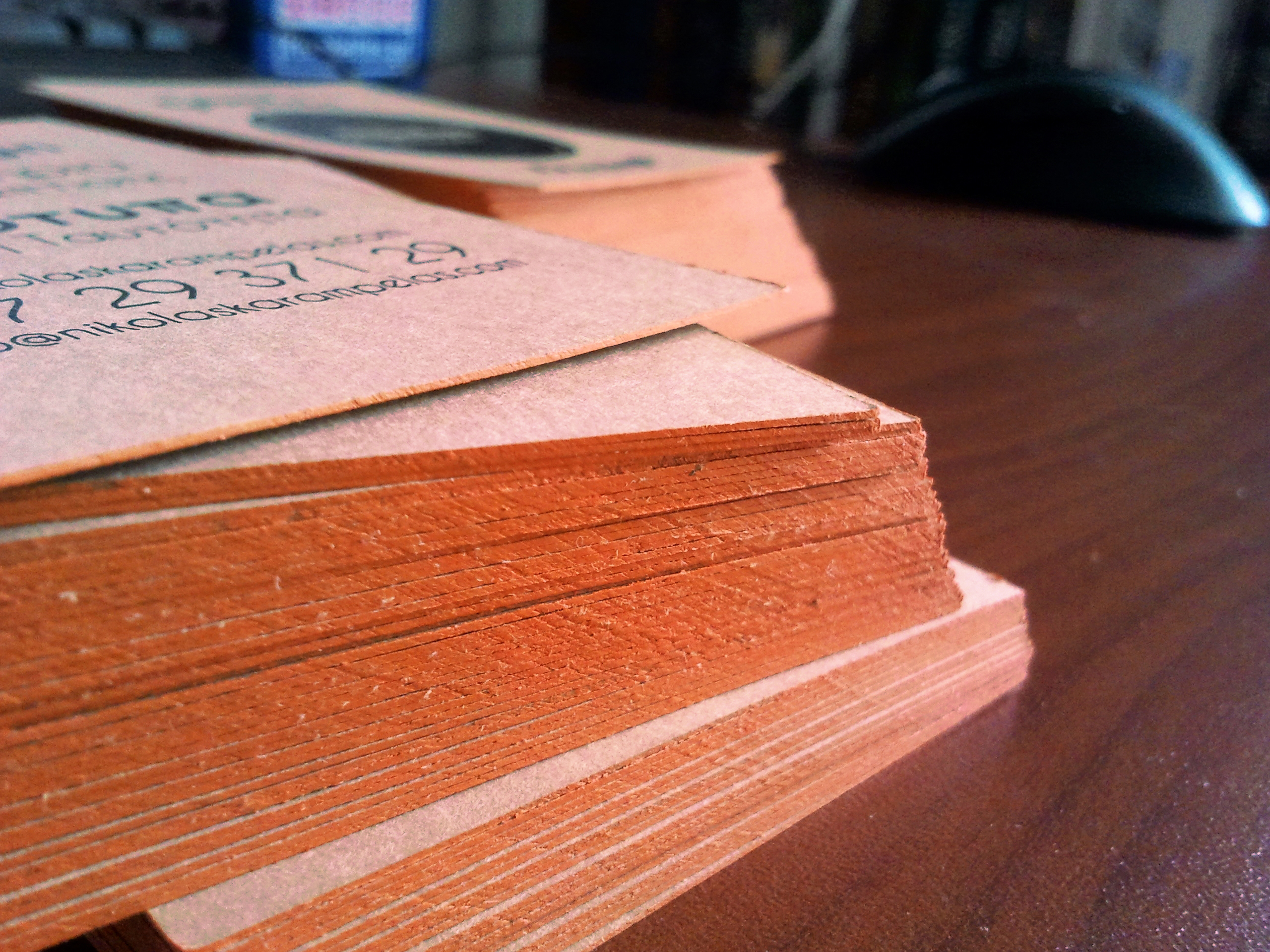 business cards side color